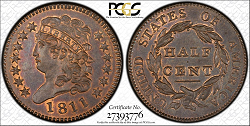 1811 Half Cent PCGS MS66 Missouri .png